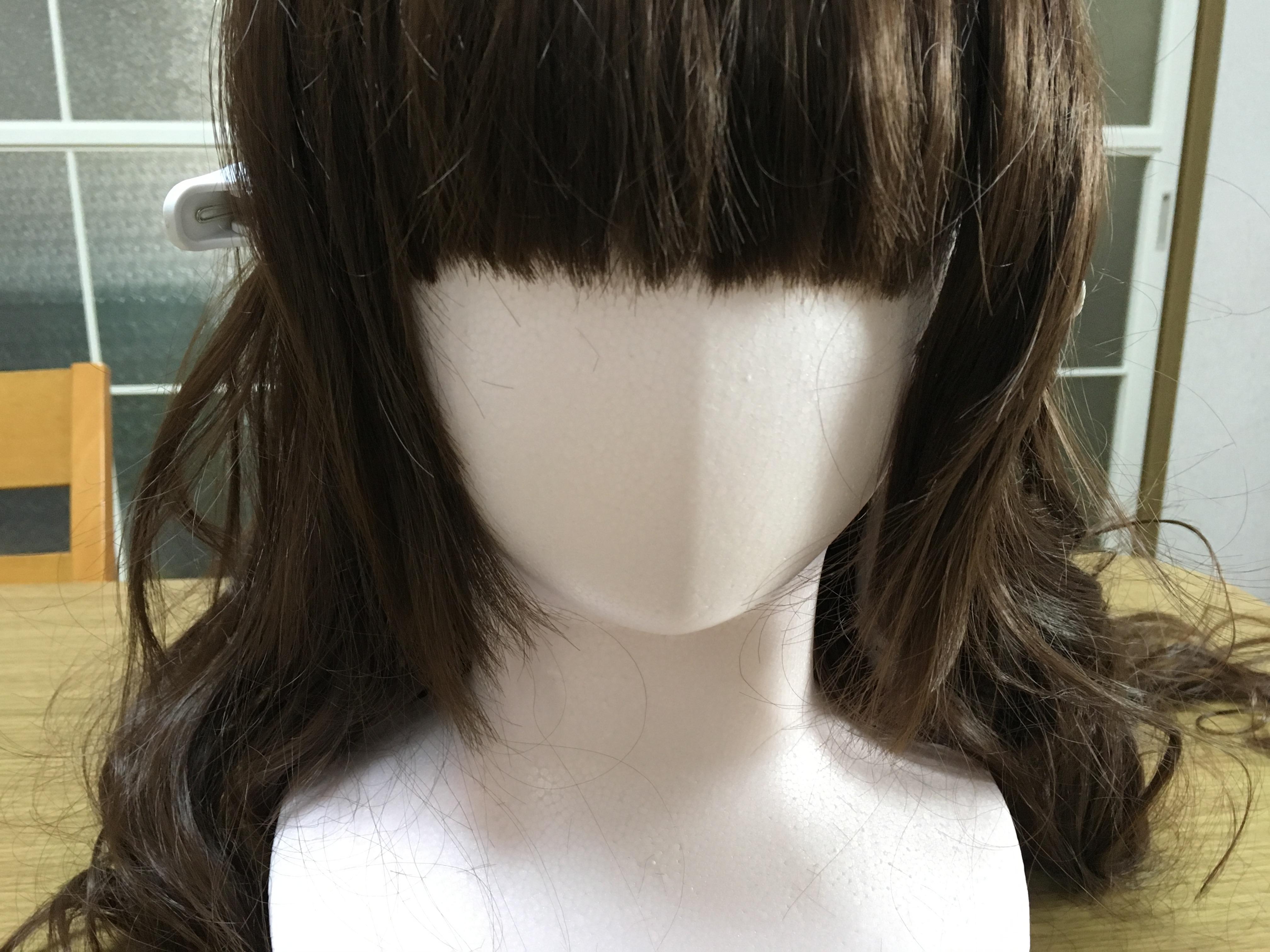 ウィッグのぱっつん前髪カットを実践してみました!