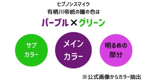 有栖川帝統の瞳の色はパープル×グリーン